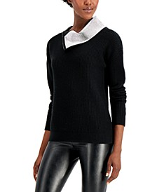 INC Embellished-Collar Pullover Sweater, Created for Macy's