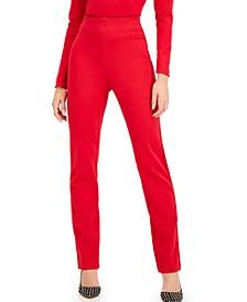 INC Petite Ponté-Knit Straight-Leg Pants, Created for Macy's