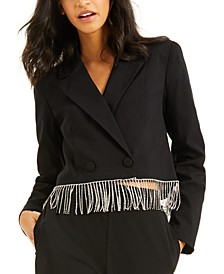 CULPOS X INC Crystal-Fringe Blazer, Created for Macy's