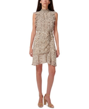 Sam Edelman HIGH-NECK RUCHED DRESS