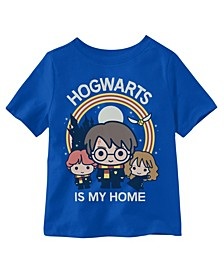 Little Boys Hogwarts is My Home Graphic T-shirt