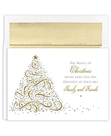 Magic Holiday Boxed Cards, 16 Cards and 16 Envelopes