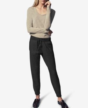 Drawstring Pull-On Jogging Pants