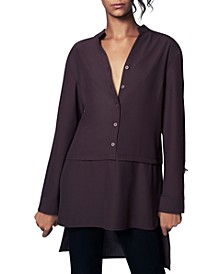 V-Neck High-Low Tunic