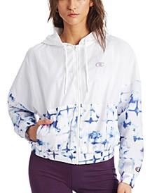 Women's Print-Blocked Hooded Jacket