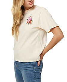 Juniors' Flamingo Cotton Graphic T-Shirt