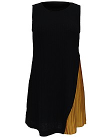 Pleated Colorblocked Tunic, Created for Macy's