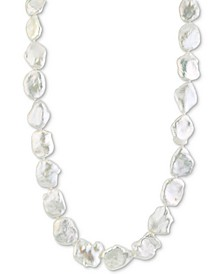 "Cultured Freshwater Keshi Pearl (13-14mm) 17"" Strand Necklace"
