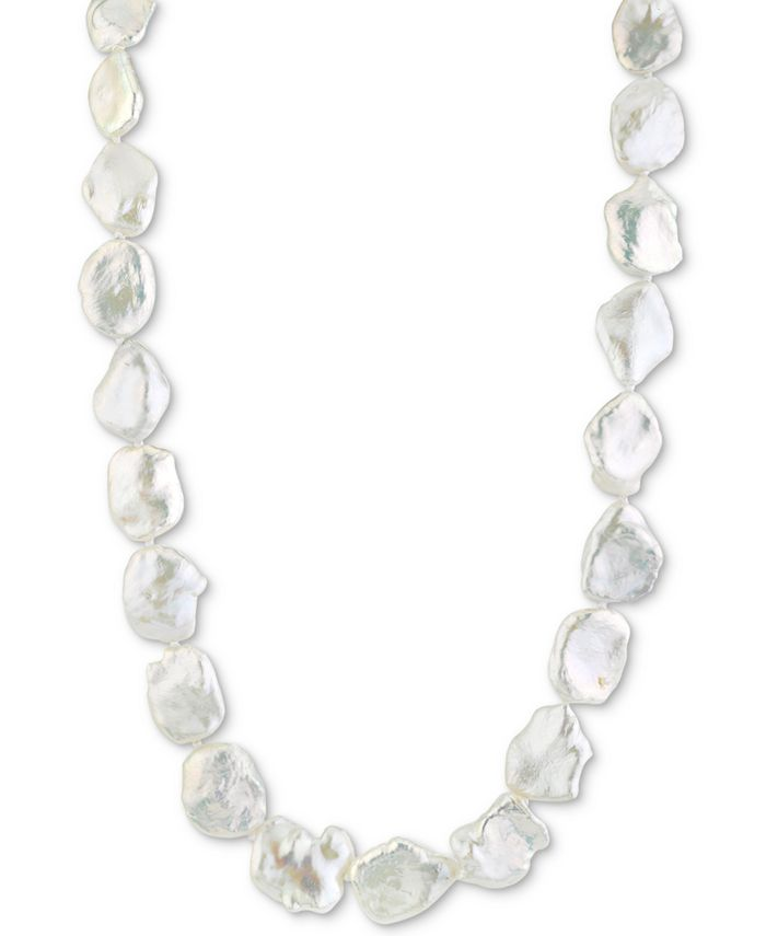 """Macy's - Cultured Freshwater Keshi Pearl (13-14mm) 17"""" Strand Necklace"""
