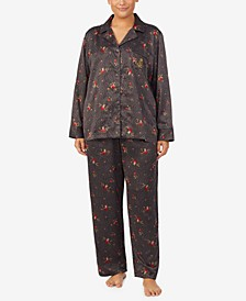 Plus Size Luxurious Satin Pajamas Set
