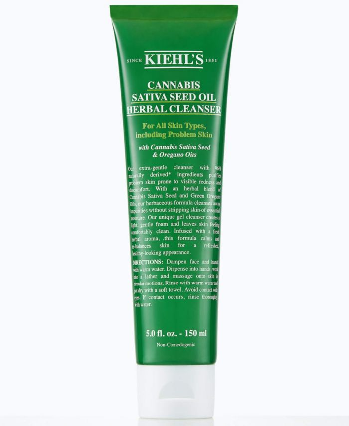 Kiehl's Since 1851 Cannabis Sativa Seed Oil Herbal Cleanser, 5-oz. & Reviews - Skin Care - Beauty - Macy's