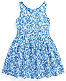 Toddler Girl Floral Cotton Poplin Dress