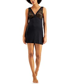 INC Metallic Lace Chemise Nightgown, Created for Macy's