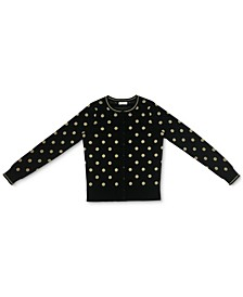 Metallic-Dot Button Cardigan, Created for Macy's