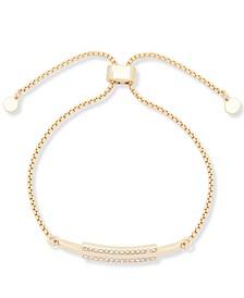 Gold-Tone Pavé Bar Slider Bracelet