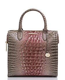 Caroline Melbourne Embossed Leather Satchel