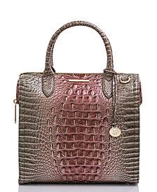 Brahmin Caroline Melbourne Embossed Leather Satchel