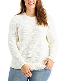 Plus Size Teddy Bouclé Sweater, Created For Macy's