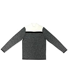 Petite Colorblocked Ribbed Sweater, Created for Macy's
