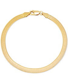 Herringbone Link Chain Bracelet in 18k Gold-Plated Sterling Silver, Created for Macy's