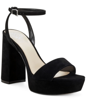 Vince Camuto Women's Chastin Bling Dress Sandals Women's Shoes In Black Suede