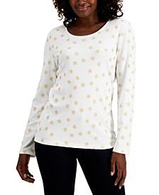 Star-Print Long-Sleeve Top, Created for Macy's