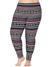 Plus Size Fleecewear With Stretch Leggings