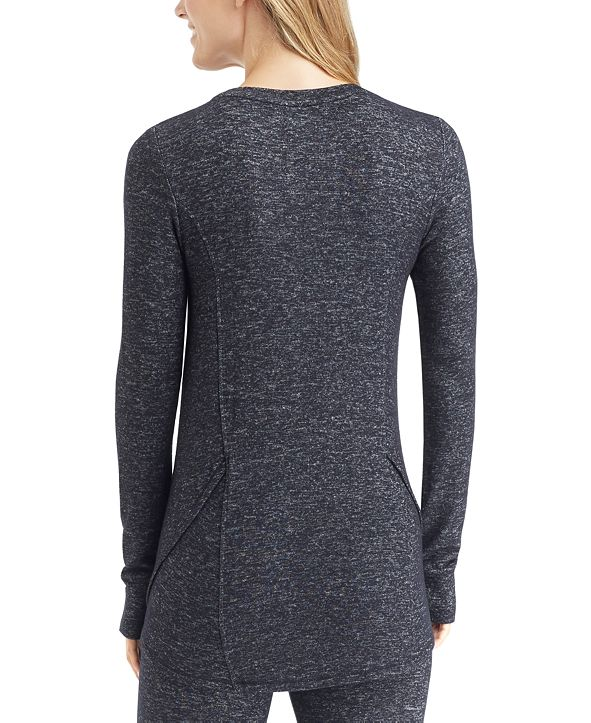 Cuddl Duds Soft Knit Long-Sleeve Crewneck Top