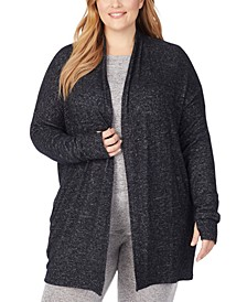 Plus Soft Knit Wrap Cardigan