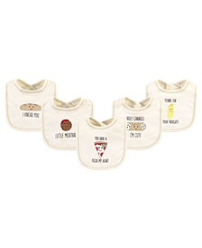 Boys and Girls Pizza Bibs, Pack of 5