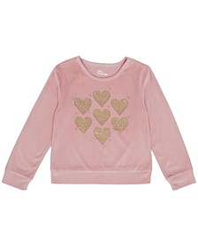 Toddler Girls Long Sleeve Heart Graphic Mix and Match Sweatshirt