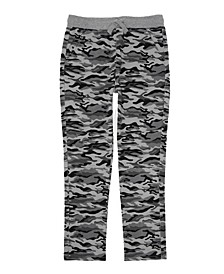 Big Boys Twill Pant with Drawstring Waist