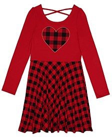 Big Girls Long Sleeve Graphic Dress