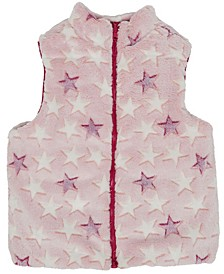 Big Girls Shiny & Faux Fur Reversible Vest