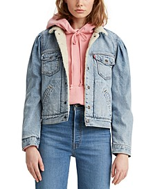 Fleece-Lined Denim Trucker Jacket