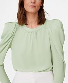 Women's Puffed-Shoulder Blouse