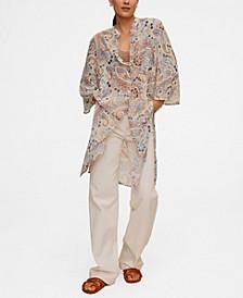 Women's Paisley Long Blouse