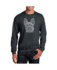 Men's Word Art French Bulldog Crewneck Sweatshirt
