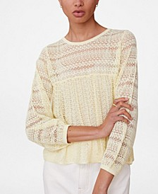 Women's Openwork Knit Top