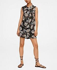 Women's Flower-Print Flowy Shorts