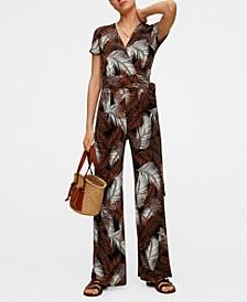 Women's Tropical Print Jumpsuit