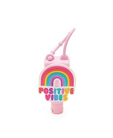 Little and Big Girls Positive Rainbow Hand Sanitizer Holder with Gel