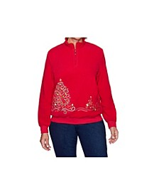 Women's Tree Embroidered Pullover