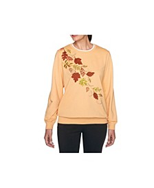 Women's Misses Fall Leaves Top