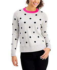 Polka-Dot Sweater, Created for Macy's