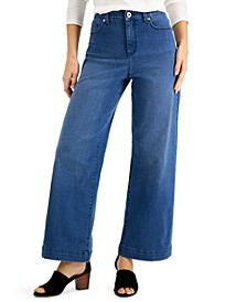Wide-Leg Tummy-Control Jeans, Created for Macy's