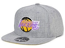 Los Angeles Lakers Hardwood Classic Team Heather Fitted Cap