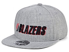 Portland Trail Blazers Hardwood Classic Team Heather Fitted Cap