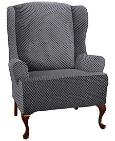 Stretch Sensations Checkered Wing Chair Slipcover