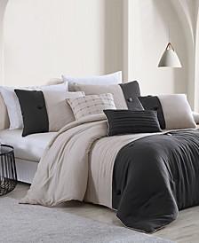 House Tillman Enzyme 6 Piece Color Block Comforter Set, Queen